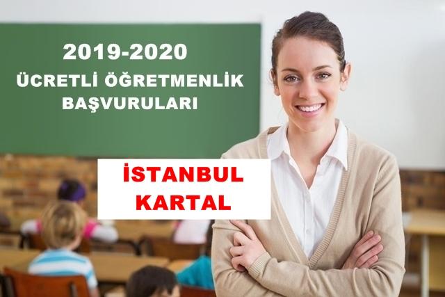 İSTANBUL – KARTAL 2019 – 2020 EĞİTİM VE ÖĞRETİM YILI ÜCRETLİ ÖĞRETMENLİK BAŞVURU DUYURUSU