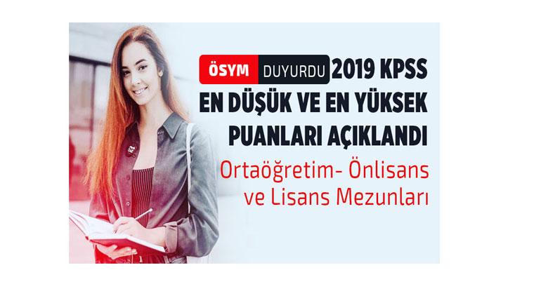 ÖSYM 2019 KPSS En Düşük ve En Yüksek Atama Puanlarını Açıklandı!