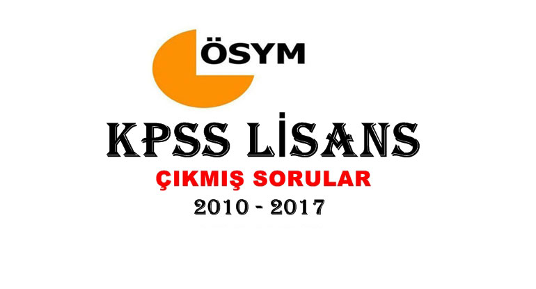 KPSS Lisans Çıkmış Sorular