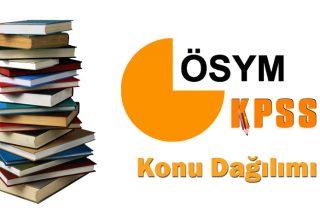 2022 KPSS Genel Kültür ve Genel Yetenek Konu Dağılımı (ÖSYM)