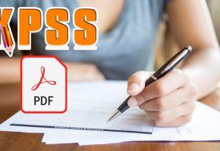 2022 KPSS GK-GY Deneme Sınavı PDF İndir