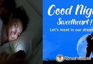 Sevgiliye Etkileyici İngilizce İyi Geceler Mesajları Resimli